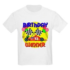 Racecar 12th Birthday Kids T-Shirt