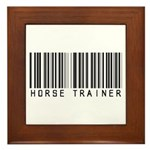 Horse Trainer Barcode Framed Tile