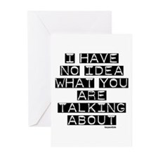 I Have No Idea Greeting Cards (Pk of 20)
