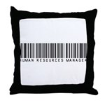 Human Res. Mgr. Barcode Throw Pillow