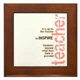 Teacher's Inspire Framed Tile