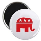"Republican Elephant Logo-Single Color 2.25"" Magnet"