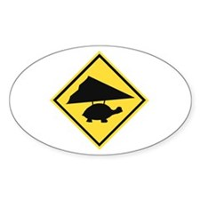 Flying Turtle Oval Decal