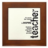 Teacher's Inspire (Black on L Framed Tile