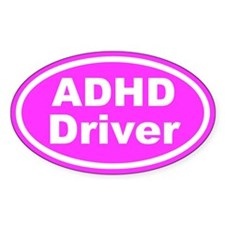 ADHD Driver Pink Euro Oval Decal