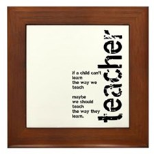 If A Child Can't Learn (Black Framed Tile