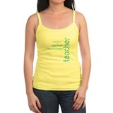 Teacher Encouragement (blue) Tank Top