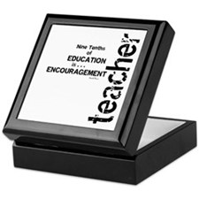 Teacher Encouragment (Black) Keepsake Box
