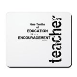 Teacher Encouragment (Black) Mousepad
