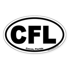 Cocoa, Florida CFL Euro Oval Decal