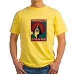 SPRINGER SPANIEL Yellow T-Shirt