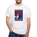 SPRINGER SPANIEL White T-Shirt
