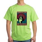 SPRINGER SPANIEL Green T-Shirt