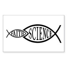Science Trumps Faith Rectangle Decal