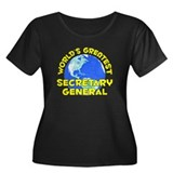World's Greatest Secre.. (D) Women's Plus Size Sco
