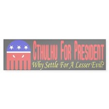 Cthulhu For President Bumper Bumper Sticker
