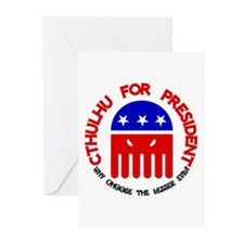 Cthulhu For President Greeting Cards (Pk of 20)