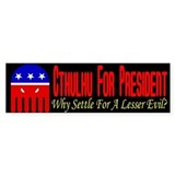 Cthulhu For President Bumper Car Sticker