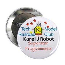 "Sample Custom Karel J Robot 2.25"" Button (10 pack)"