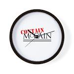 Contain McCain Wall Clock