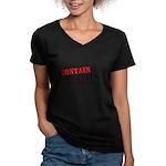 Contain McCain Women's V-Neck Dark T-Shirt