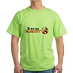 Anti-McCain: Senator McAngry Green T-Shirt