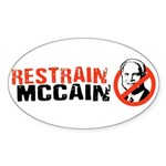 Restrain McCain Oval Sticker