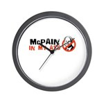 Anti-McCain Wall Clock