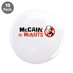 "Anti-McCain 3.5"" Button (10 pack)"