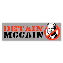 DETAIN MCCAIN Bumper Bumper Sticker