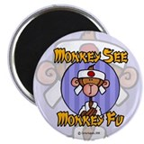 "Monkey Fu 2.25"" Magnet (10 pack)"