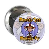 "Monkey Fu 2.25"" Button (10 pack)"