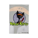 Ninja Kitty Rectangle Magnet