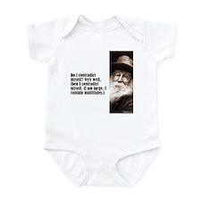 """Whitman """"Contradict"""" Infant Bodysuit"""