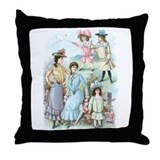 Vintage Dresses Throw Pillow