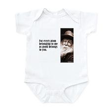 "Whitman ""Every Atom"" Infant Bodysuit"