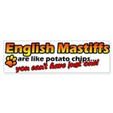 Potato Chips English Mastiff Bumper Bumper Sticker