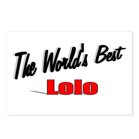 """The World's Best Lolo"" Postcards (Package of 8)"