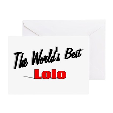 """The World's Best Lolo"" Greeting Cards (Pk of 20)"