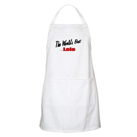 """The World's Best Lolo"" BBQ Apron"