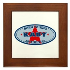 Kady - Born To Sing Framed Tile
