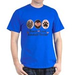 Peace Love Amstaff Terrier Dark T-Shirt