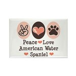Peace Love American Water Spaniel Rectangle Magnet