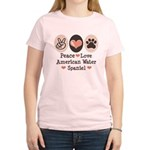 Peace Love American Water Spaniel Women's Light T-