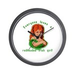 Redheaded Irish Girl Wall Clock