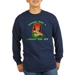 Redheaded Irish Girl Long Sleeve Dark T-Shirt