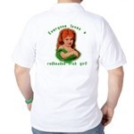 Redheaded Irish Girl Golf Shirt