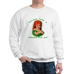 Redheaded Irish Girl Sweatshirt