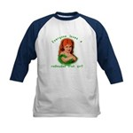 Redheaded Irish Girl Kids Baseball Jersey