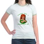 Redheaded Irish Girl Jr. Ringer T-Shirt